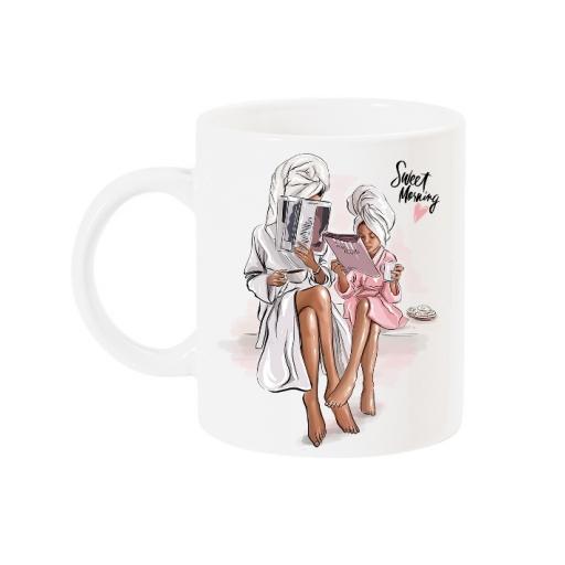Чаша с арт принт за мама  Sweet morning