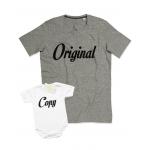 """Комплект със забавен надпис """"Original/Copy"""""""