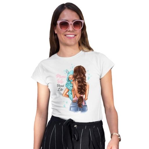 Дамска тениска  MAMA WIFE BLESSED LIFE - BOY