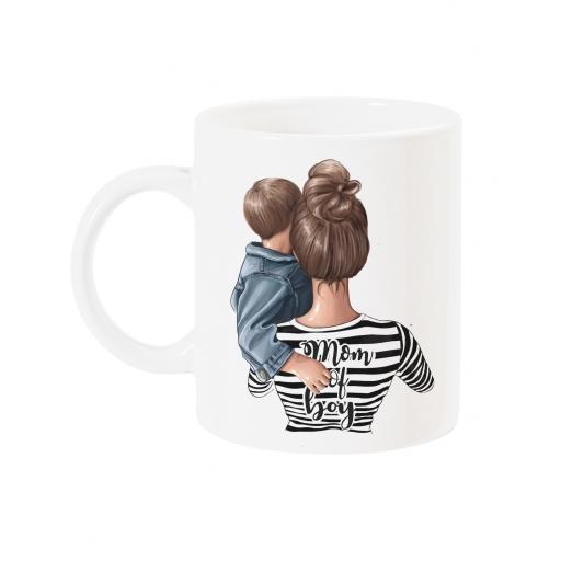Чаша с дизайнерски принт - MOM of  BOY