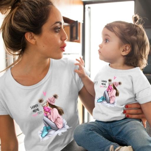 Сет за майка и дъщеря с арт принт - GIRL