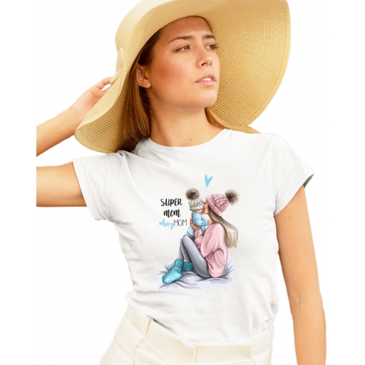 Дамска тениска MOM of BOY