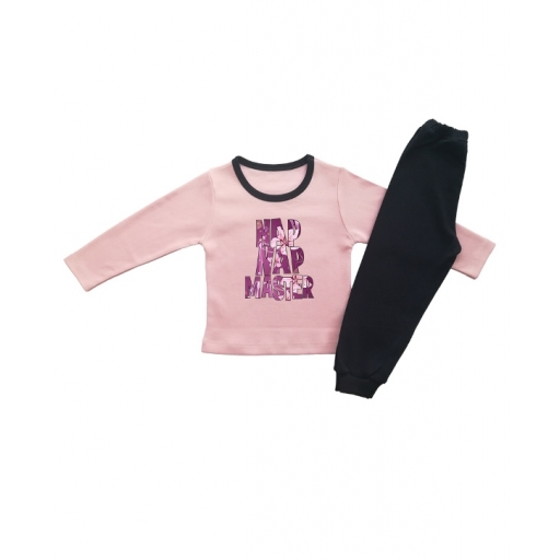 Детска пижама NAP NAP MASTER  ЗА МОМИЧЕ С ЦВЕТЯ