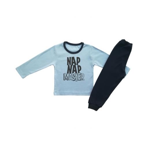 Детска пижама  синя NAP NAP MASTER  ЗА МОМЧЕ
