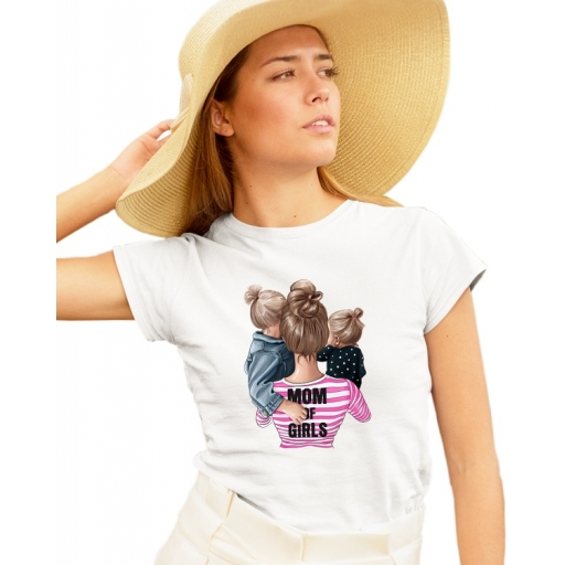 Дамска тениска МАМА - майка на момичета