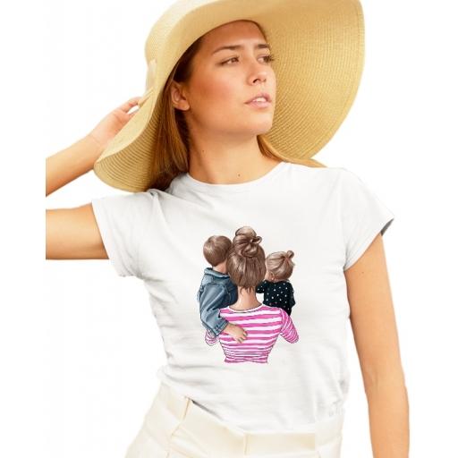 Дамска тениска МАМА - майка на момиче и момиче