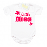 "Забавно бебешко боди ""Little MISS"""
