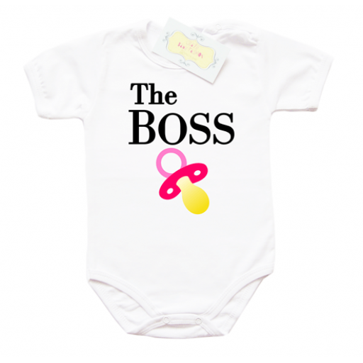 Забавно бебешко боди The BOSS