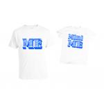 Тениски за бащи и синове с щампа на английски език
