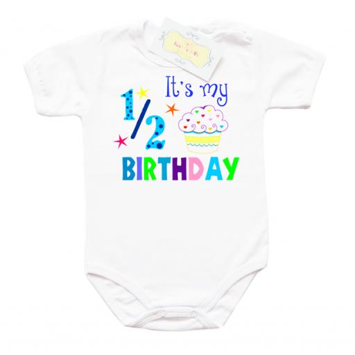 Забавно бебешко боди за 1/2 рожден ден за момче