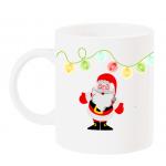 """Чаша с Дядо Коледа и надпис """"Весели Празници"""""""