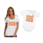 Комплект тениска и боди за мама и дъщеря
