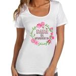 """Дамска тениска """"Баба на годината"""" с венец"""