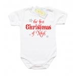Боди с надпис на английски език The First Christmas of.....