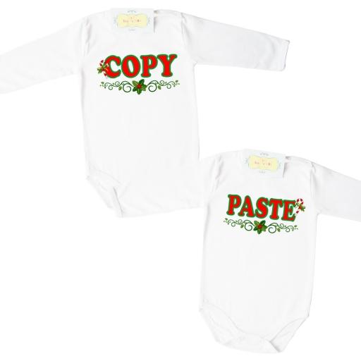 """""""COPY"""" И """"PASTE"""" коледни модели бодита за близнаци"""