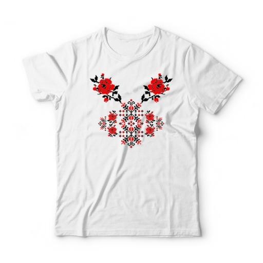 Детска тениска с шевици Две рози
