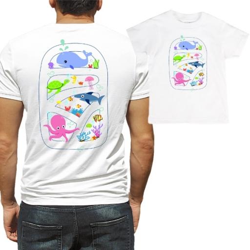 """Комплект със забавен надпис  """"Подводно Царство"""""""