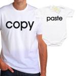 Комплект със забавен надпис  Copy/Paste