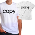"""Комплект със забавен надпис  """"Copy/Paste """""""