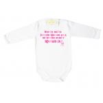 """Боди с надпис """"Всички майки раждат красиви деца..."""" за момиченце"""